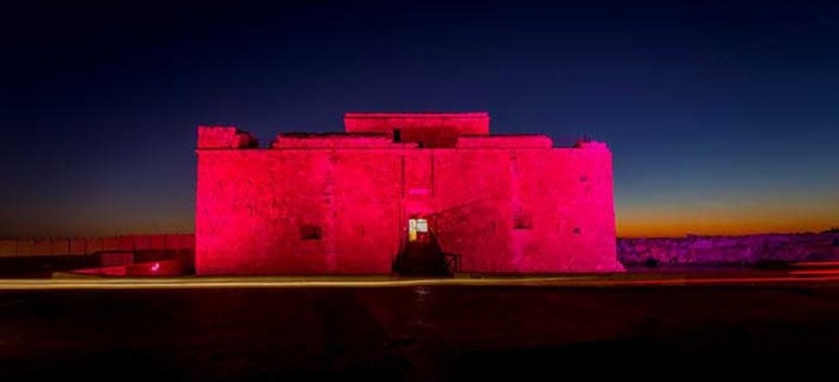 Cyprus Paphos and Larnaca castles to be lit up red