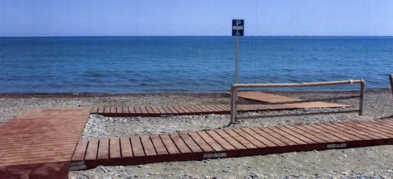 Second wheelchair ramp on Lady's Mile to provide access to sea