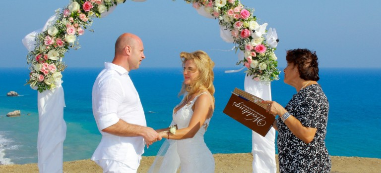 A Romantic Wedding at Aphrodite's Rock