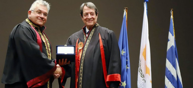 President given honorary degree by Aristotle University