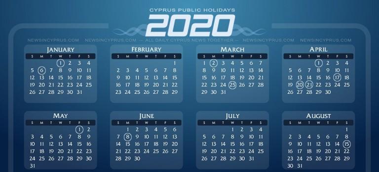 Cyprus Public Holidays 2020 - Dates