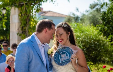 Adam & Samantha's Villa Wedding in Argaka