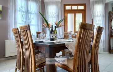 Indoor formal dining table