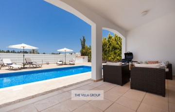 Lovely furnished terrace by the swimming pool