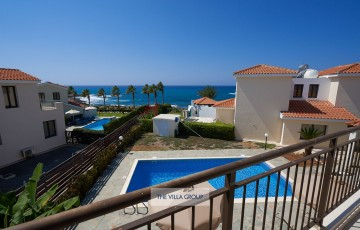 Views over swimming pool and of the beautiful Mediterranean Sea