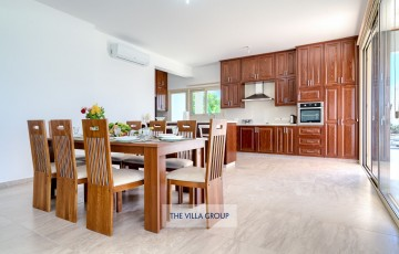 Open plan living, kitchen and dining areas