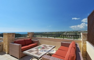 Furnished upper terrace offering stunning views